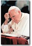 Juan Pablo II con el santo Rosario