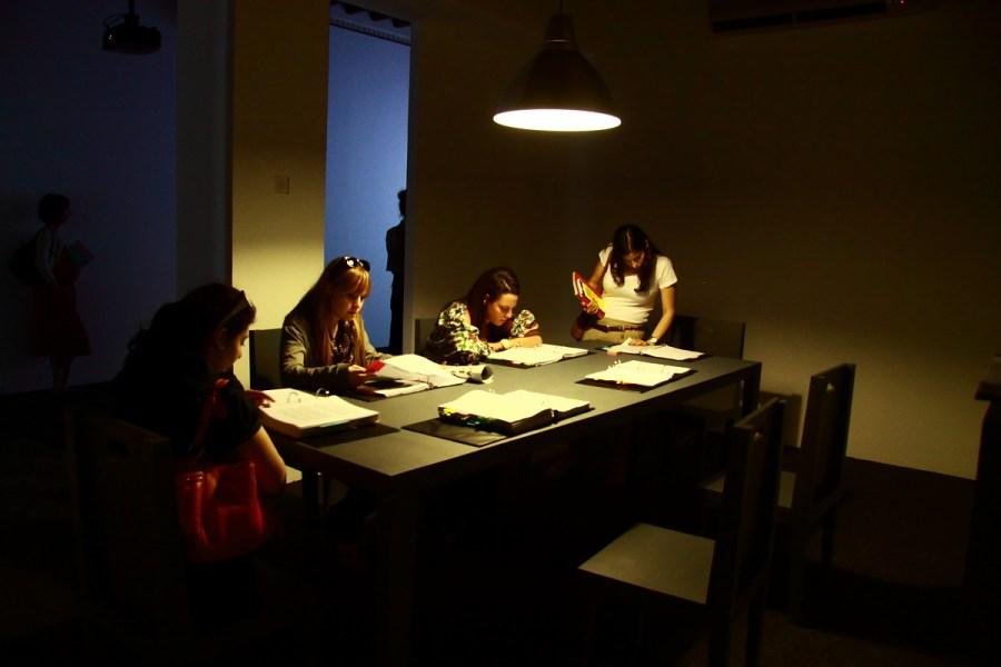 The Trespassers installed at the Sharjah Biennial 10, 2011 (photo: Alfredo Rubio)