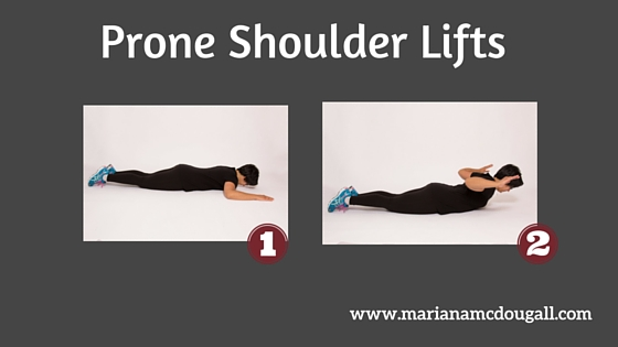 Prone Shoulder Lifts