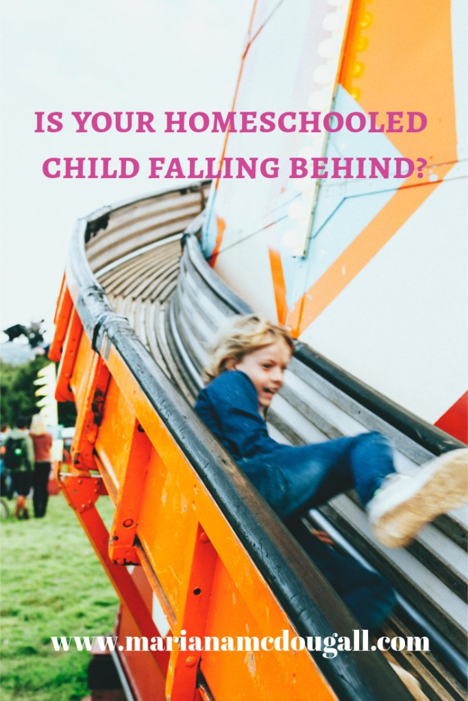 Is your homeschooled child falling behind? www.marianamcdougall.com, kid going down slide, Photo by feipeng yi on Unsplash