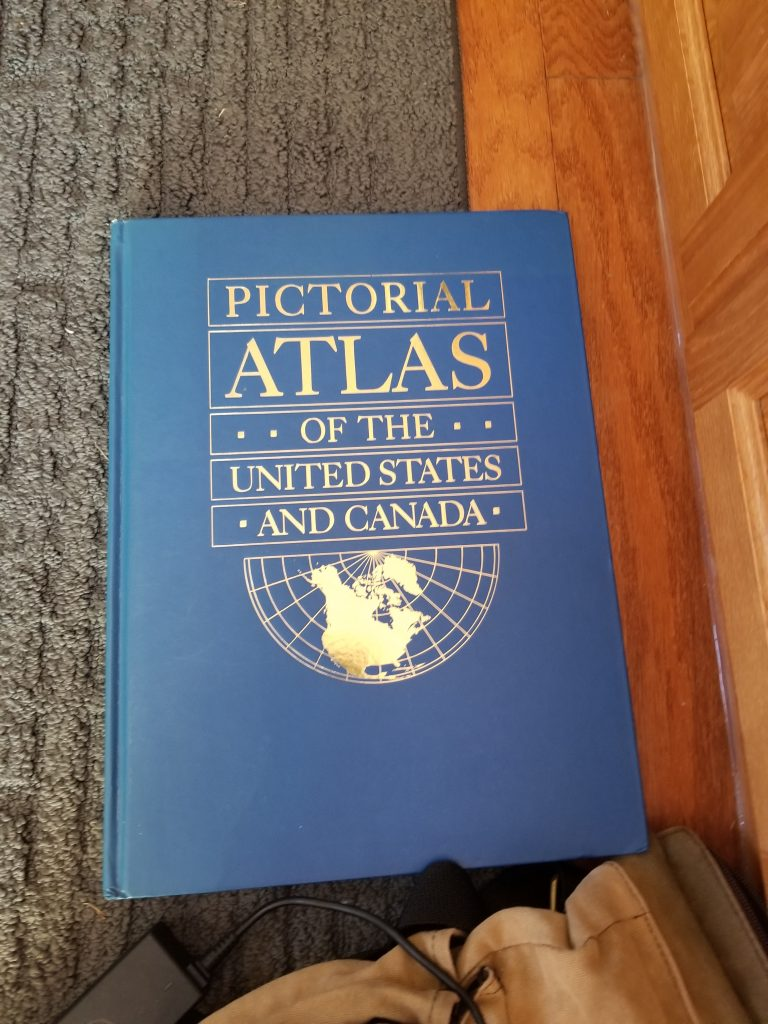 pictorial atlas of the United States and Canada book