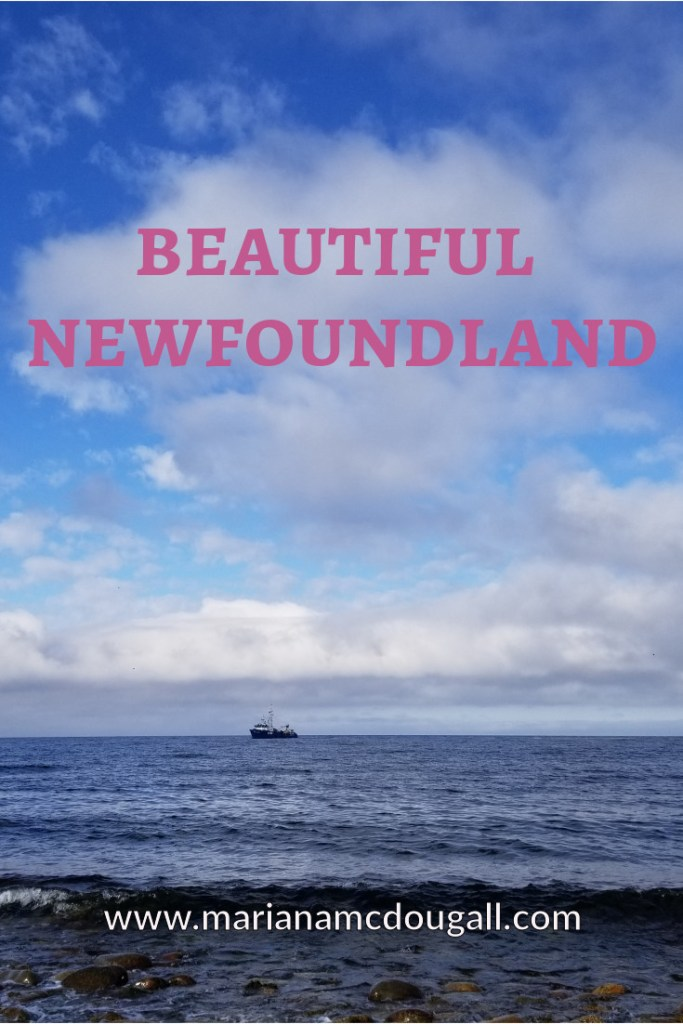 Beautiful Newfoundland, www.marianamcdougall.com, picture of ship in the distance on Atlantic Ocean in Newfoundland
