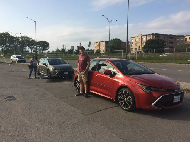Test driving a toyota corolla in quebec city