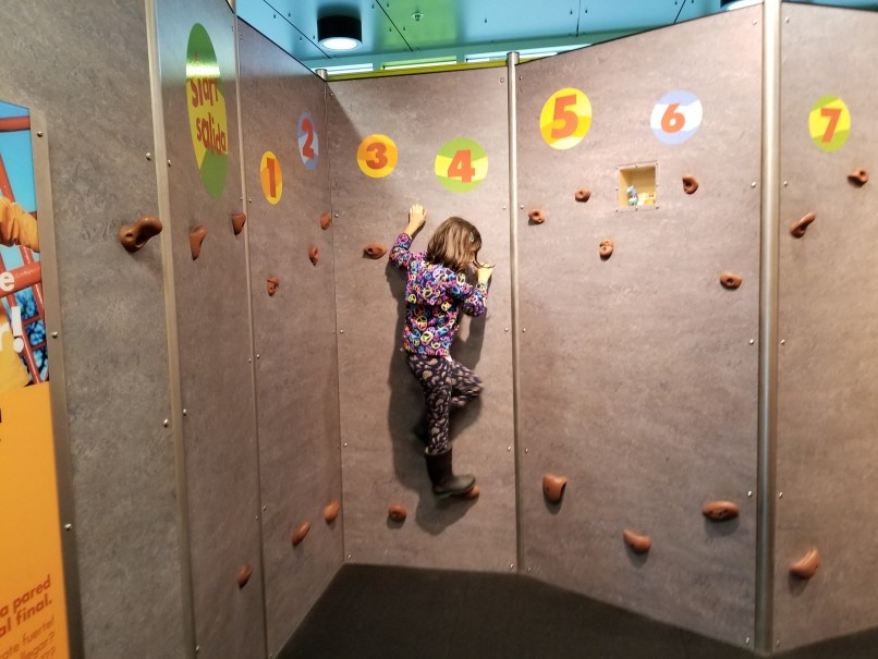 girl climing at the boston children's museum