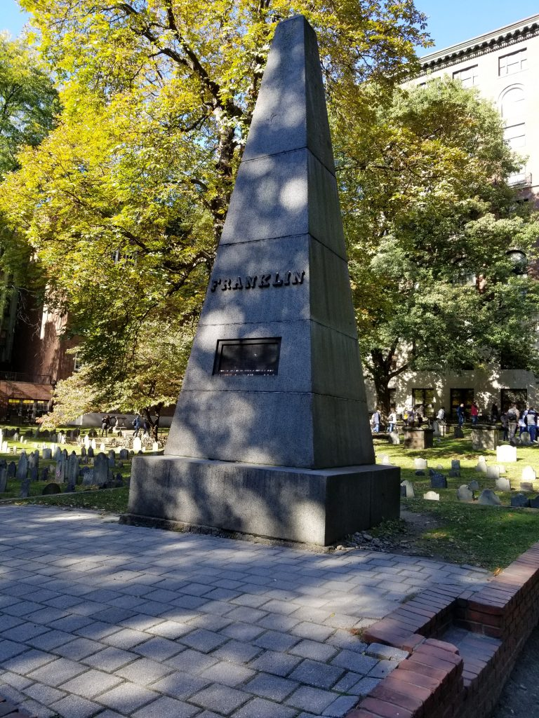 Franklin monument in Boston