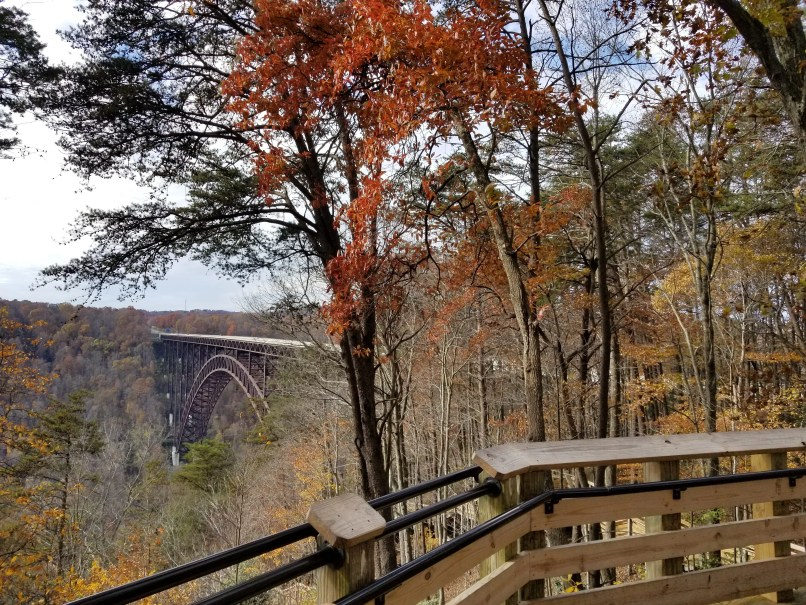 Bridge and trees as seen from the New River Gorge National River Lookout