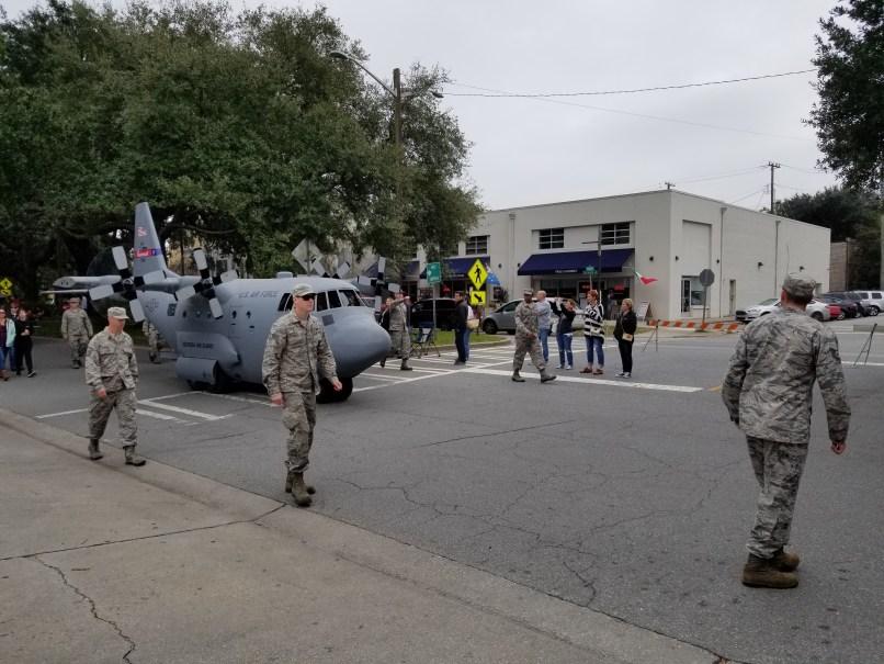 Mini airplane at the Savannah Veteran's Day Parade