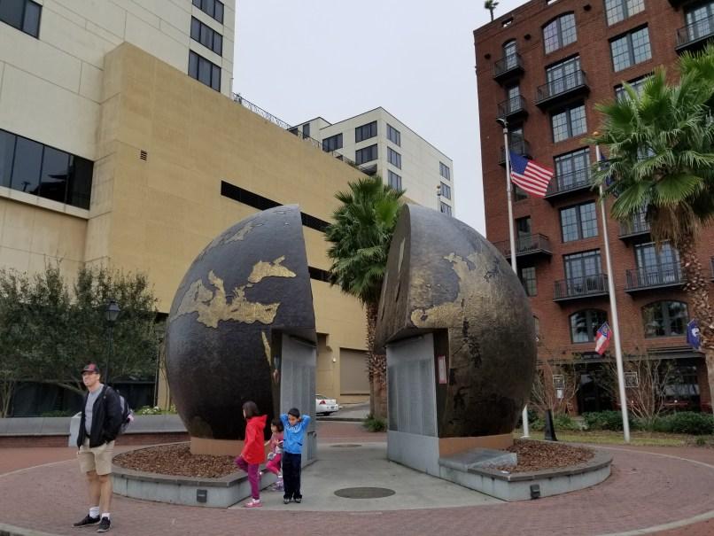 World War 2 Monument in Savannah, Georgia