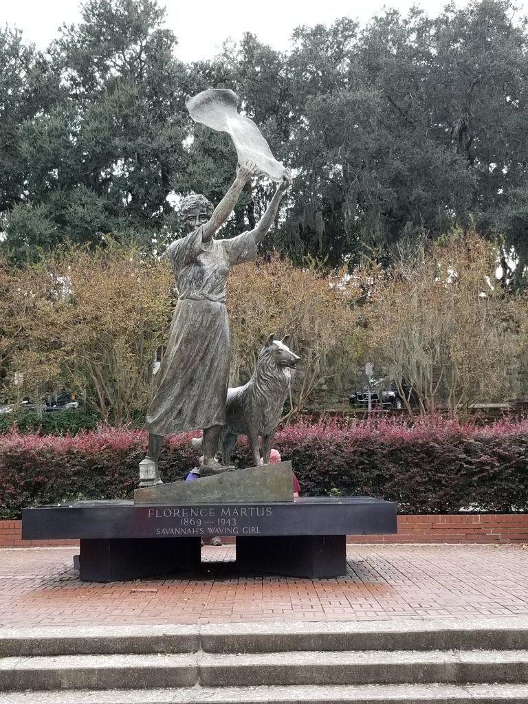 Waving girl monument, Savannah, Georgia