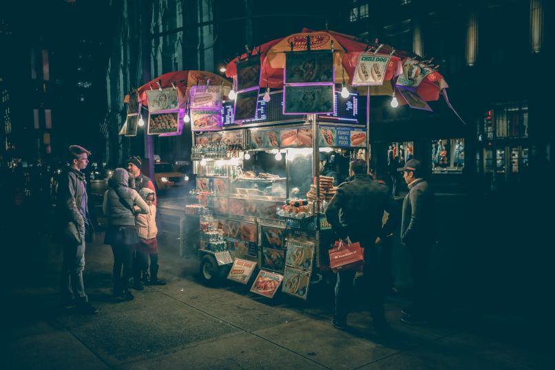 Street Food Cart in New York City, Photo by Roman Arkhipov on Unsplash