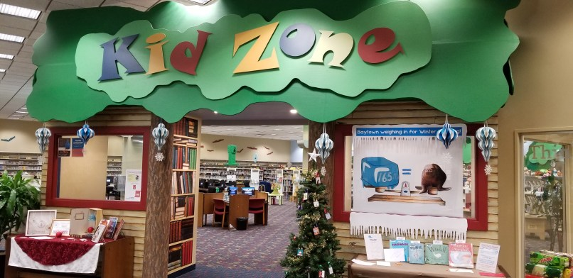 """""""Kid Zone"""" at Sterling Public Library in Baytown, Texas."""