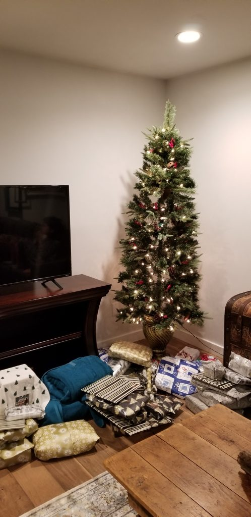 Christmas tree in an airbnb in Granbury, Texas