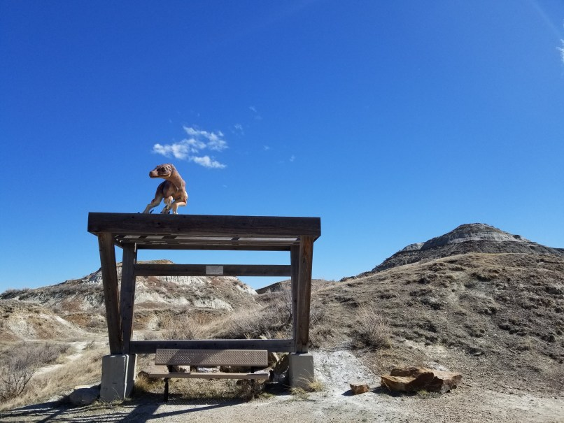 Dinosaur Provincial Park Visitor Center Trail bench