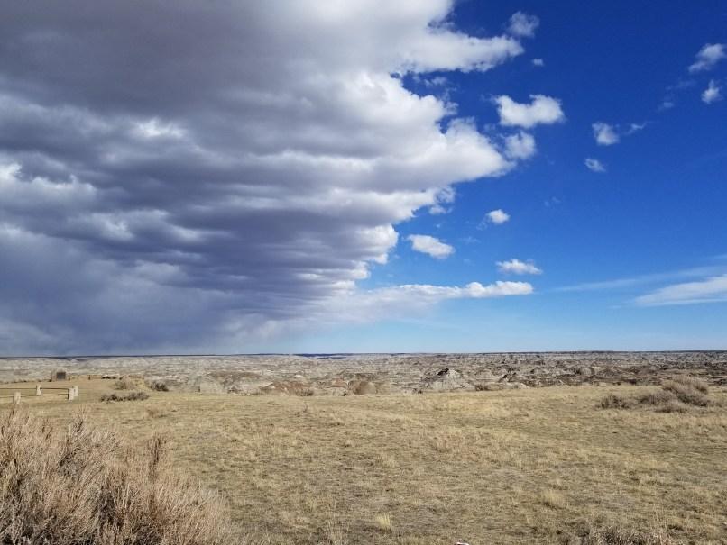 Sky at Dinosaur Provincial Park