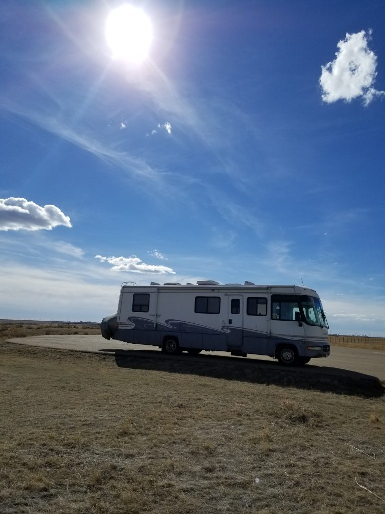RV at Dinosaur Provincial Park