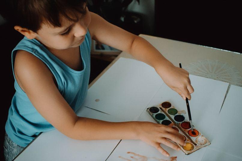 Child painting. Photo by Anita Jankovic on Unsplash