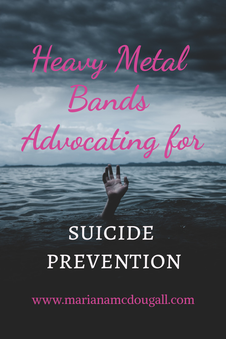 Heavy Metal Bands advocating for suicide prevention. www.marianamcdougall.com. Photo of a hand in an ocean. Photo by Ian Espinosa on Unsplash