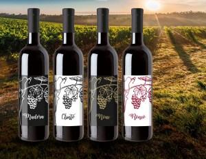 Collezione di etichette per vino per azienda Nimis Andrea