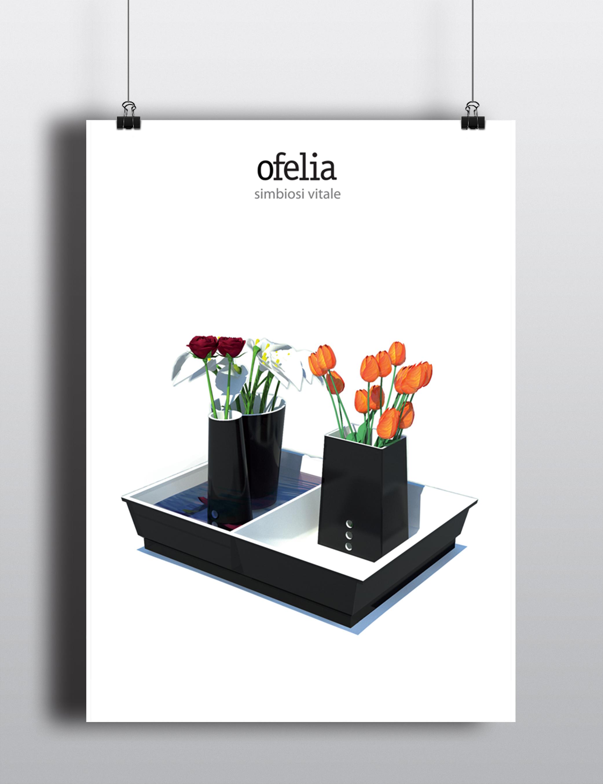 Poster Ofelia vaso da fiori in ceramica