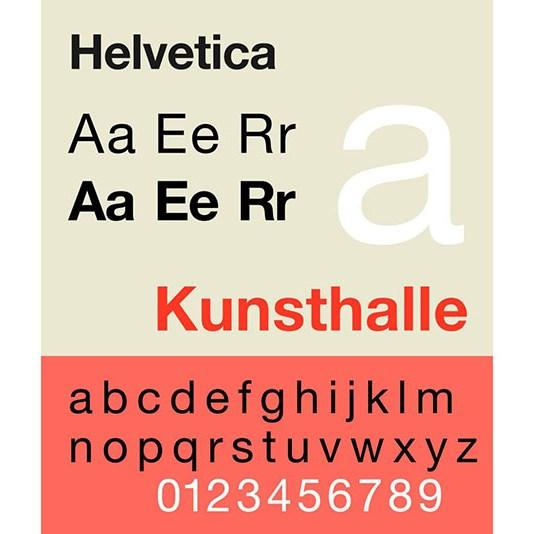 Carattere tipografico Helvetica. Dizionario di grafica di Marianna Milione