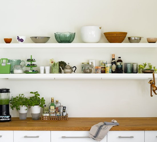 Ingeniørfruens åpne kjøkkenhyller