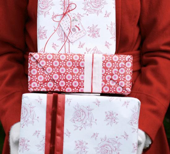 Ingeniørfruens flotte julegaver i rødt og hvitt