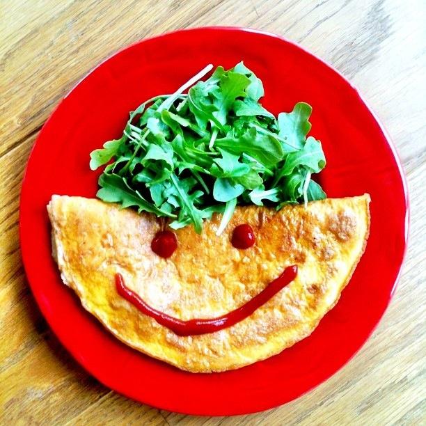 Omelett med hemmelig fyll