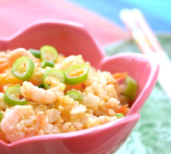 Lavkarbo lavkalori fried rice Paleo style