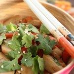 Enkel og billig wok med fiskeboller (kr 21,78)