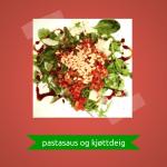 Pastasaus og kjøttdeig på 5 minutter (kr 31,04)