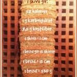 [KOSTHOLD] Hvor mye veier et brød? (Vekt, kalorier, karbohydrater og antall skiver)