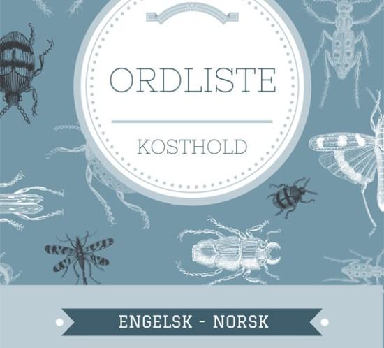 Ordliste-kosthold-engelsk-norsk