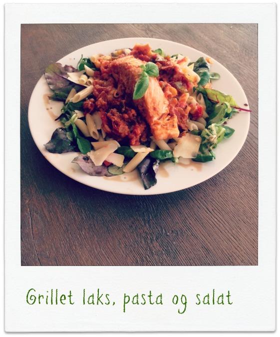 MIN-MATDAGBOK-Grillet-laks-på-pasta