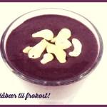 [MAT] FROKOST: Blåbærsmoothie med hjemmelaget nøttemelk
