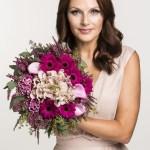 Rosa sløyfe-bukett til støtte for brystkreftsaken