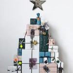 Lag juletre av pakker som adventskalender