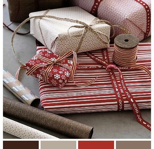 Julens-fargekombinasjoner-Rødt-hvitt-beige-og-brunt