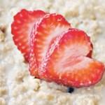 Havregrøt med jordbær, banan og vanilje