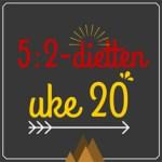 Forslag til 5:2-diett dagsmeny for 2 av ukens dager, uke 20