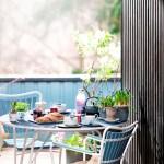 Bruk vindusmaling til hagemøblene