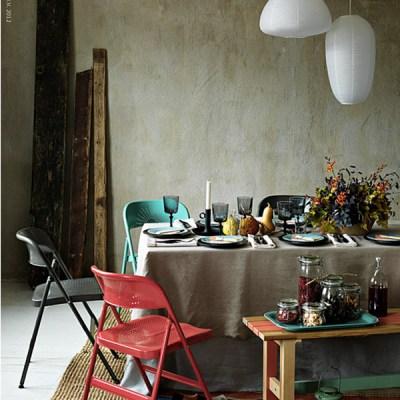 Borddekking i høst: Moderne og rustikt festbord