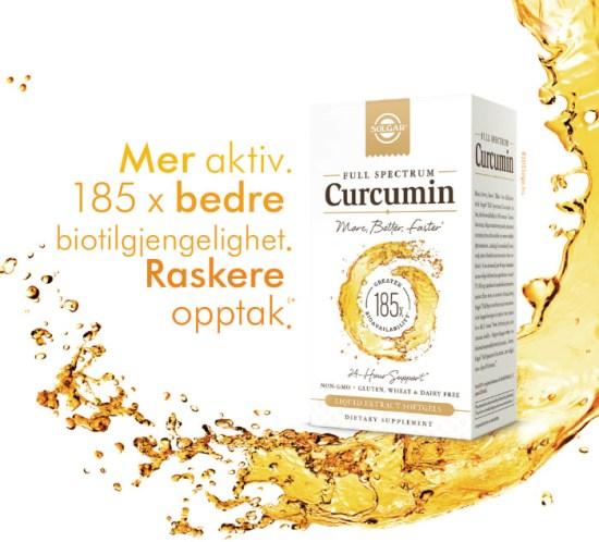 KOSTTILSKUDD Curcumin fra gurkemeie i nytt kosttilskudd