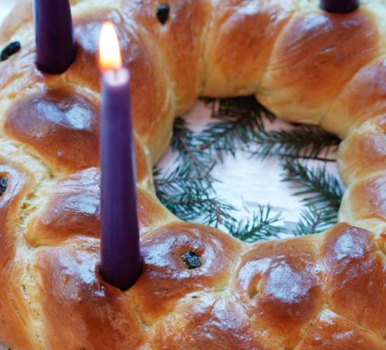 Oppskrift på spiselig adventskrans