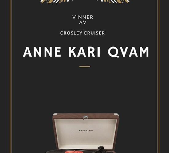 VINNER av vinylspiller ble Anne Kari Qvarm