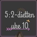 Forslag til 5:2-diett dagsmeny for 2 av ukens dager, uke 10 – 2016