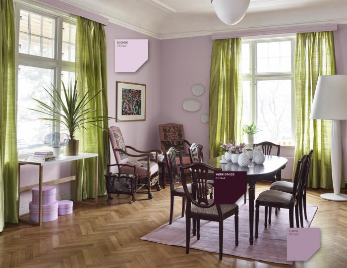 INTERIØRTIPS Fargekart Fargerike - rosa Engelsk rose