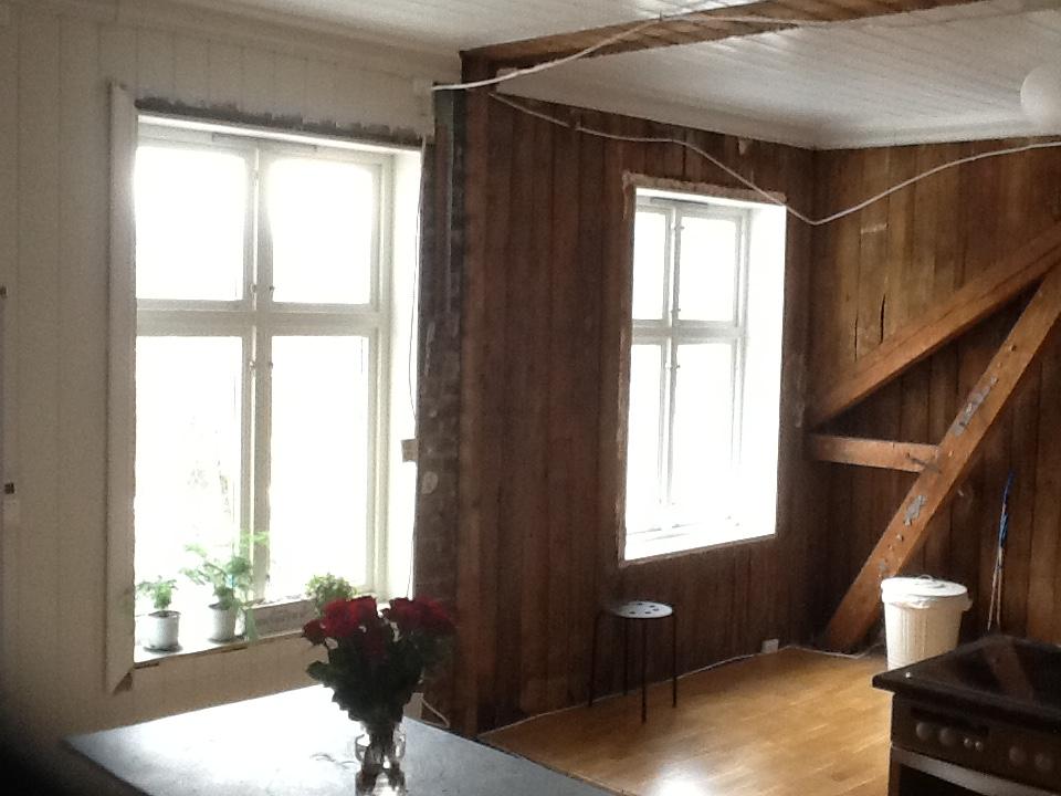interiortips, DIY, blogg, kjøkken, oppussing, demontering, vegger