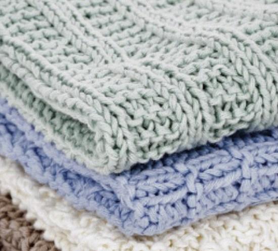 DIY oppskrift strikkede kluter i bomullsgarn