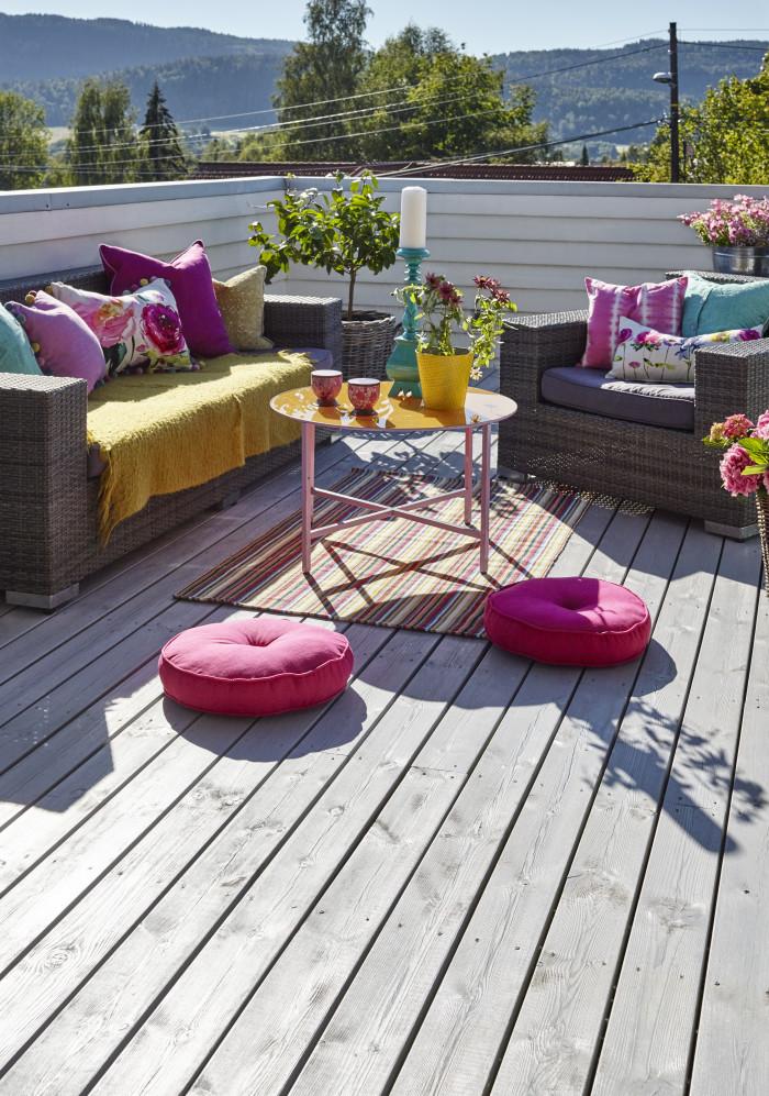 Interiørtips til balkong, veranda, hage og terrasse