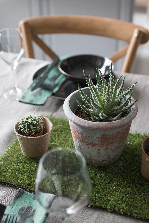 BORDDEKKING Fint bord med kaktus